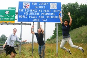 Peace Corps Road Sign
