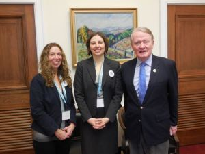 Pictured: Sharon Keld, Christina Tedder, Congressman Leonard Lance, (NJ-7)