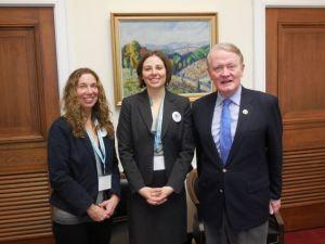 Pictured: Sharon Keld, Christina Tedder, Congressman Leonard Lance, (NJ-7)